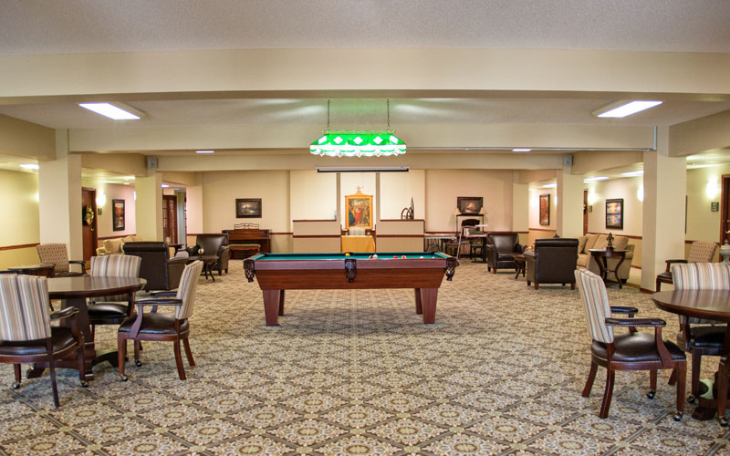 Independent & Assisted Living Billards and Activity Area