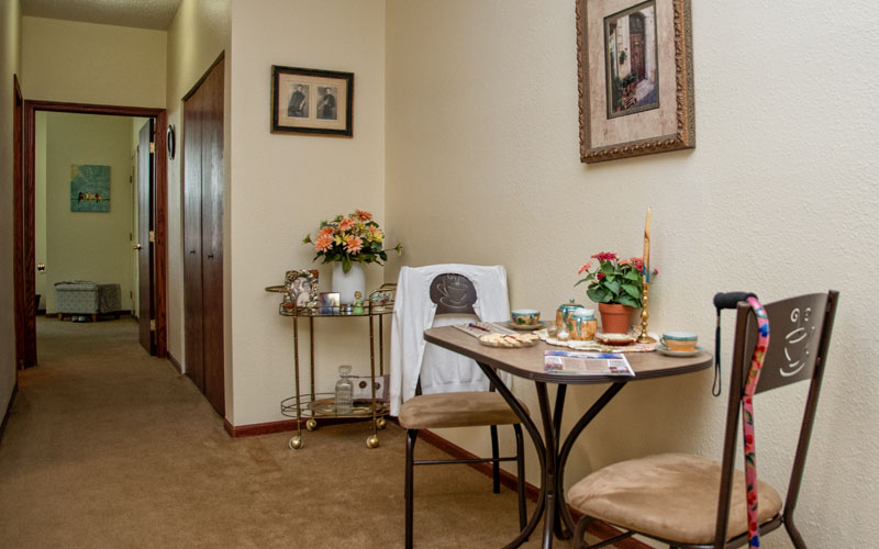 Independent & Assisted Living Model Apartment Dining Area