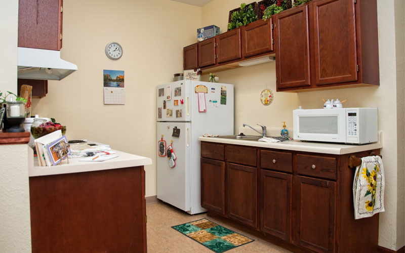 Independent & Assisted Living Model Apartment Kitchen