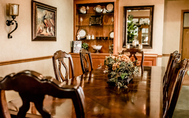 Memory Care Private Dining Area