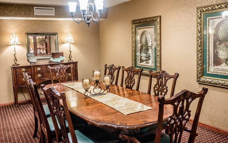 Independent & Assisted Living Private Dining Area