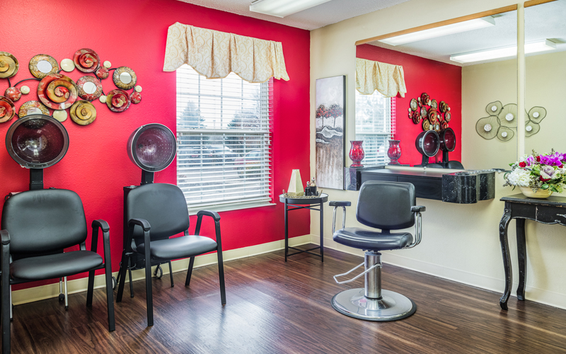 Assisted Living Buzz Cuts and Beehives salon